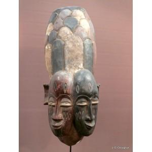 Gelede twins Yoruba mask