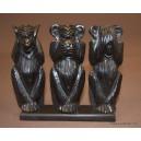 3 monkeys in ebony