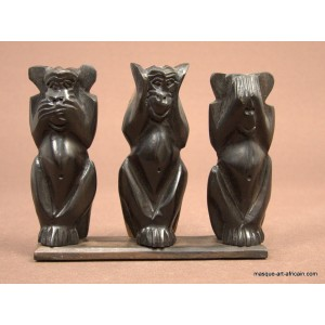 Les 3 singes en ébène