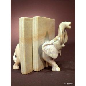 Serre-livres en pierre à savon